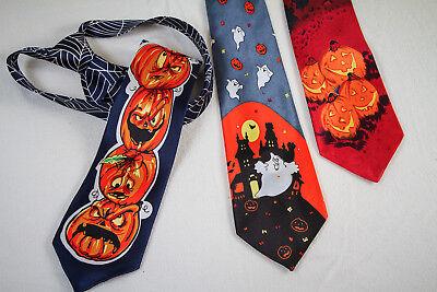 Halloween-Krawatte Skelette Kürbisse Totenkopf Gothic Punk 125694913 125694113