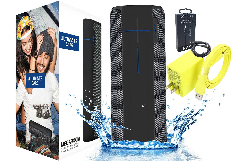 New UE Ultimate Ears MEGABOOM Bluetooth Speaker Charcoal Bla