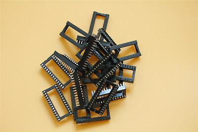 20Pcs 28 Pin DIP IC Chip Solder Type Socket IC Socket Adaptor