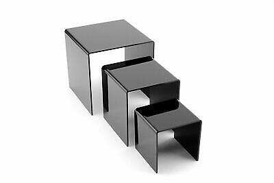 Tytroy Set Of 3 Black Acrylic Showcase Display Risers Nesting Display Stands