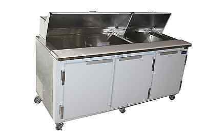 Coolman Commercial Refrigerated Sandwich Prep Table 72