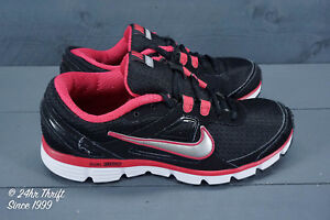 VGC! Nike Dual Fusion ST Womens Size 9 Running Shoes Black/Pink/Silver