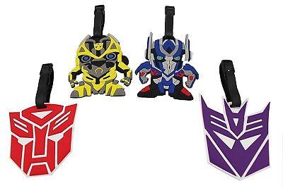Finex Set of 4 Transformers Logo Optimus Prime Bumblebee Travel Bag Luggage Tag