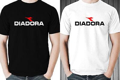 Diadora T-shirt - DIADORA LOGO ICON men black white t-shirt 100% cotton short sleeve