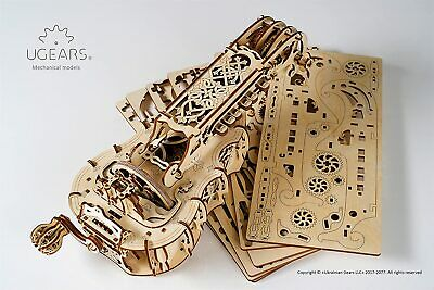 3D UGEARS 70030 Mechanische Holzpuzzle Modelle Hurdy Gurdy 292 Teile