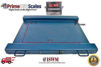 1000 Lb X 0.2 Lb Optima Scale Op-917 Lightweight Portable Drum Scale 32