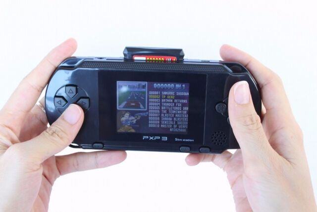 16 bit Handheld Game Console Portable Video Game 150+ Games Retro Megadrive PXP