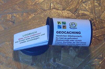 1 Filmdose + Geocaching Logbuch + wasserfestem Aufkleber (StashNote)