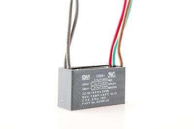 New 1Pcs CBB61 5 WIRE CEILING FAN CAPACITOR 3.5uf+4uf+2.5uf 250V 300V AC