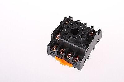 11-Pin 35mm PF113A DIN Rail Relay Socket Base for JTX-3C MK3P 11-pin Relay Socket