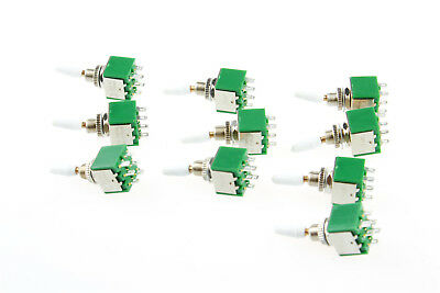 Dpdt Ac 250v 2a Mini Toggle Switch White Handle 2 Position Onon 10pcs 6 Pin