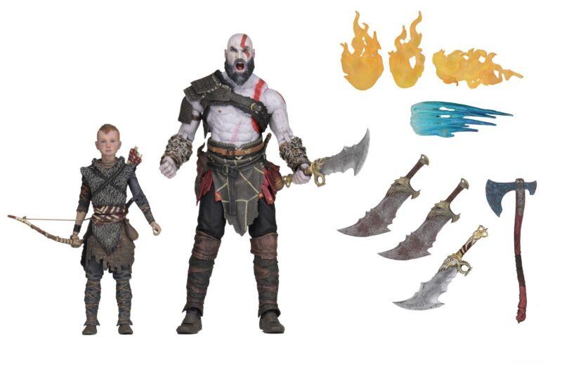 "God of War (2018) - 7"" Scale Action Figure Set - Ultimate Kratos & Atreus - NECA"