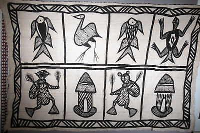 Crafts African Canvas of Korhogo Large Model