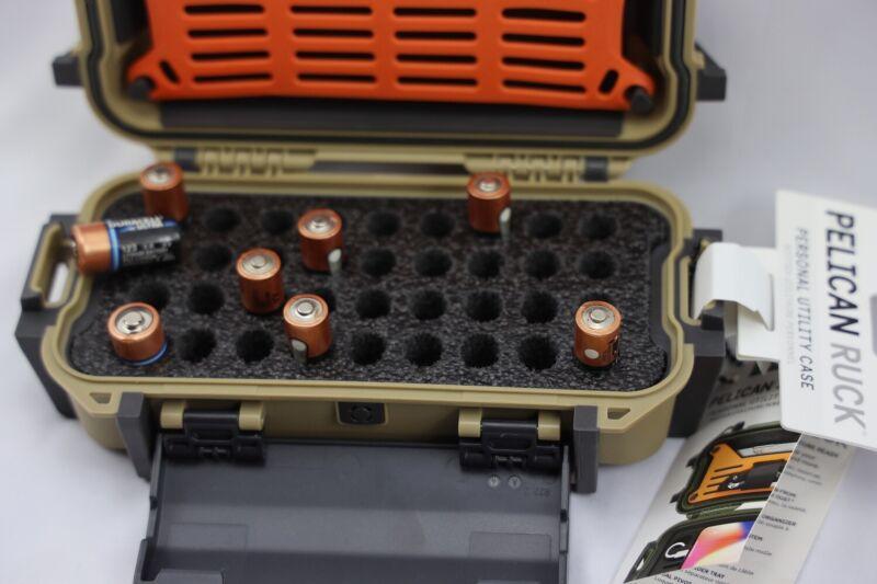 precut holds 36 AA cr123 cr2 Battery storage foam fits Pelican Ruck 20 R20 case