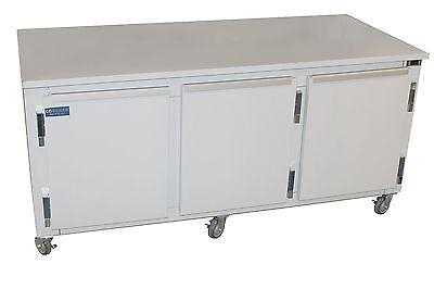 Coolman Commercial 3-door Low Boy Worktop Freezer 84