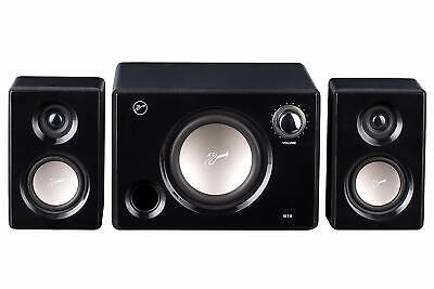 Home Audio - M10B Powered 2.1 Computer Speakers Surround Sound Near-Field Black
