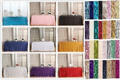 Sequin Tablecloth for Party Decor and can be used for Overlay Wedding Table  (Table Decor For Parties)