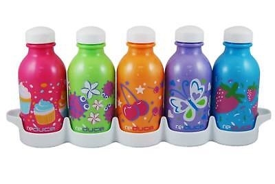 10 Oz Kids Water Bottle - reduce WaterWeek Kids 10oz Simply Sweet Water Bottle Set with Fridge Tray, 5 ct.