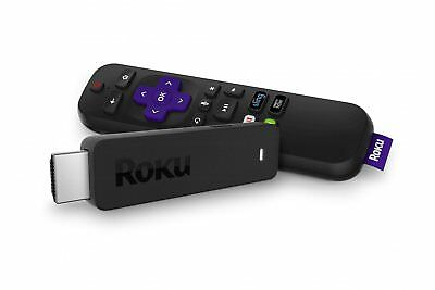 New Roku Streaming Stick Portable power-packed player voice remote TV Power Vol