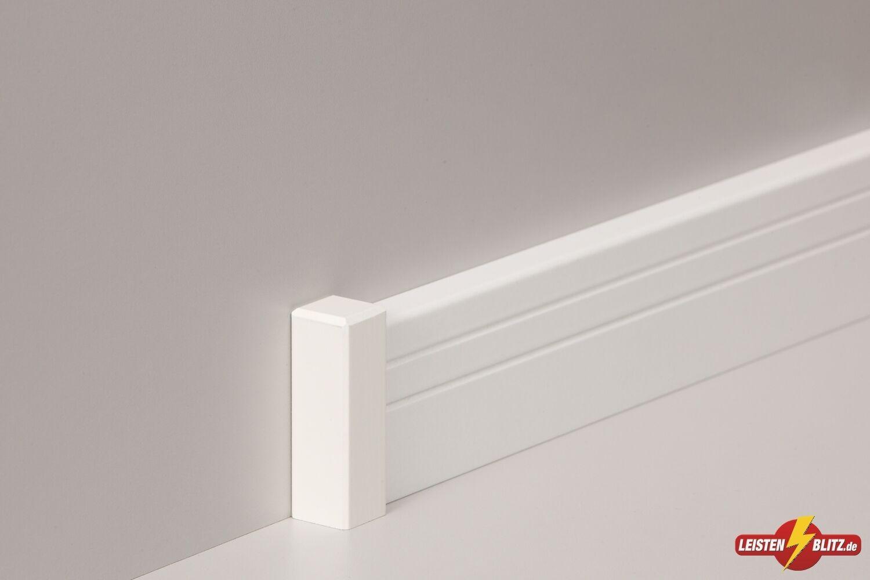 sockelleisten fu bodenleiste altberliner profil 19x60mm mdf wei foliert 2000401 eur 5 95. Black Bedroom Furniture Sets. Home Design Ideas