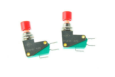 2pcs Spdt No Nc Momentary Micro Switch Red Cap Push Button Ds438