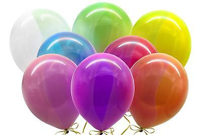 100pk Assorted Transparent Party Balloons Birthday Event Decorations 10