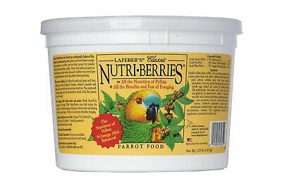 Lafeber's Nutri Berries Classic Parrot Food Bird Treat 3.25