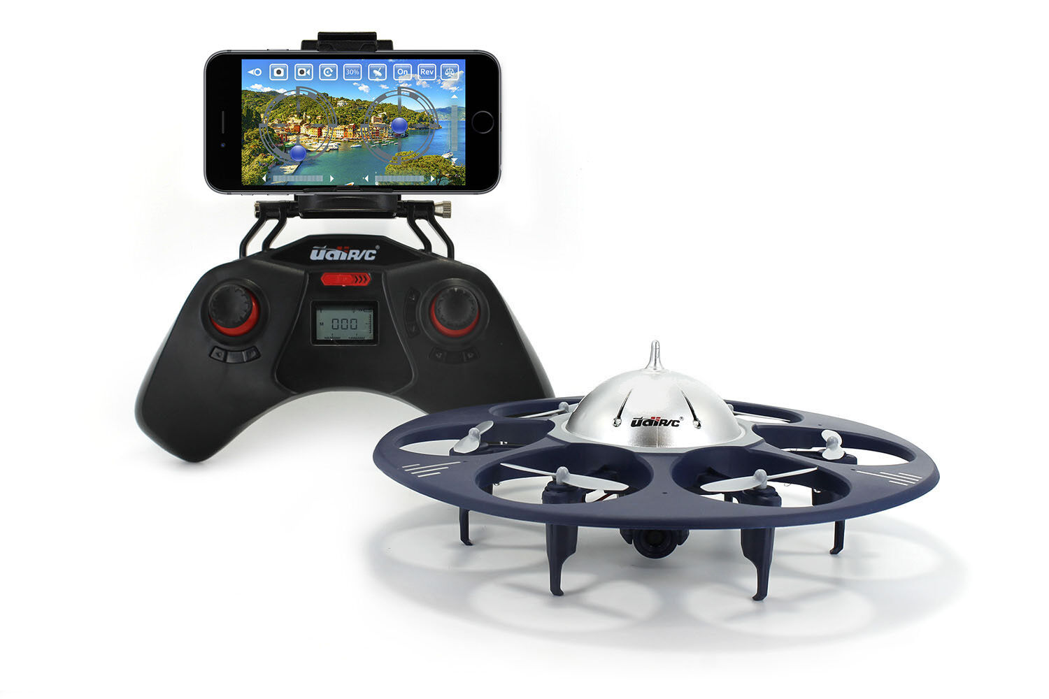 UDI U845 Voyager WiFi FPV UFO HexCopter RC Drone - Controlled by Smartphone