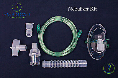 Adult Aerosol Nebulizer Mask W  Disposable Neb Kit For Asthma Copd Drive Medical