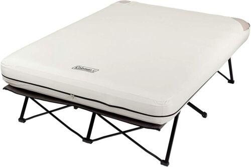 Coleman Camping Cot, Air Mattress, and Pump Combo | Folding Camp Cot and Air Bed