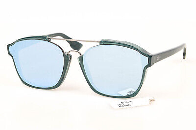Christian Dior DiorAbstract teal green plastic mirror frame sunglasses NEW $520
