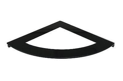 Desk Corner Connector - Offex Office Desk  Line Corner Connector - Black/Clear Glass