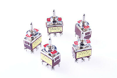 5pcs 3 Position Onoffon Ac 250v15a 125v20a Dpdt Toggle Switch Momentary