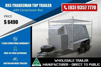 Tradesman Top Trailer with Tool Box - 8x5 Epping Whittlesea Area Preview