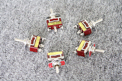 Spdt On-off-on 3 Position Momentary Electric Toggle Switch Ac 250v 15a Red 10pcs