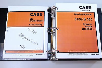 Case 350 Crawler Tractor Dozer Service Repair Manual Parts Catalog Shop Books