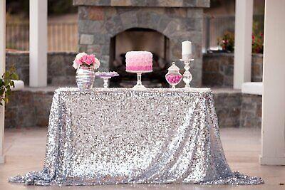 Silver Sequin Tablecloth (60x102
