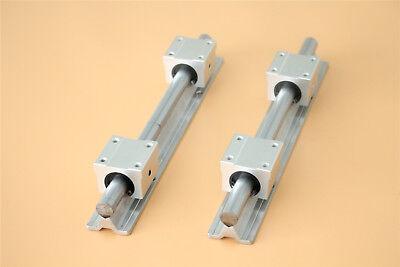 2set Sbr16-400 Fully Supported Slide Guide Linear Rail Shaft Rod 4 Sbr16uu