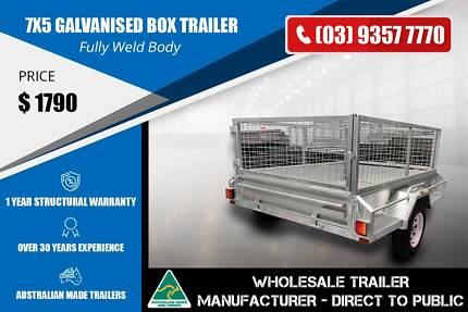 Galvanised Box Trailer - Heavy Duty - 7x5 Epping Whittlesea Area Preview