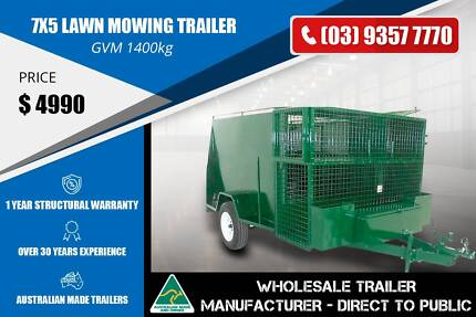 Lawn Mowing Trailer - GVM 1400kg - 7x5 Epping Whittlesea Area Preview
