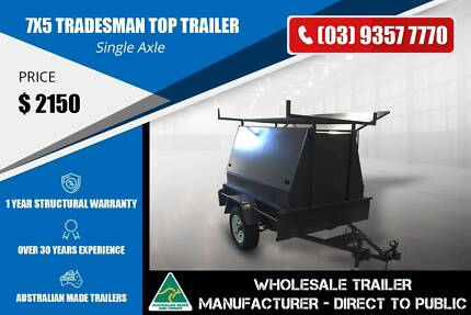 Single Axle Tradesman Top Trailer - 7x5 - Ladder Rack Epping Whittlesea Area Preview