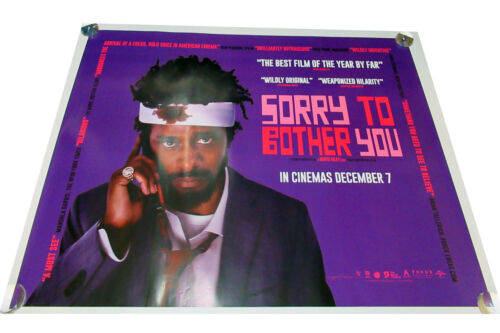 Sorry to bother you movie UK quad poster ORIGINAL D/S  LaKeith Stanfield