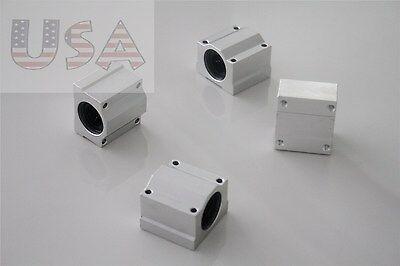 4pcs Cnc Sc16uu Scs16uu Linear Motion Ball Bearing Slide Bushing 16mm Shaft