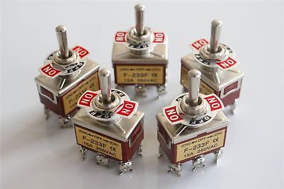10x Heavy Duty15a 250v Dpdt 6 Pin On-off-on Momentary Toggle Switch