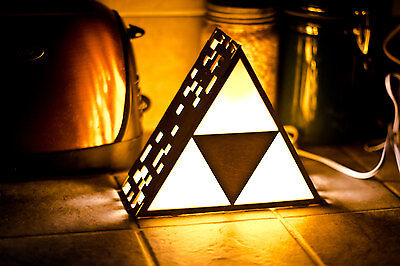Zelda Triforce Lamp MINI - Hanging or End Table