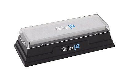 """KitchenIQ 6"""" Natural Arkansas Water Sharpening Stone - Knife & Blade Sharpener"""