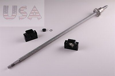 Sfu1605 L1050mm Rolled Ball Screw C7 With Bkbf12 End Machined Cnc New