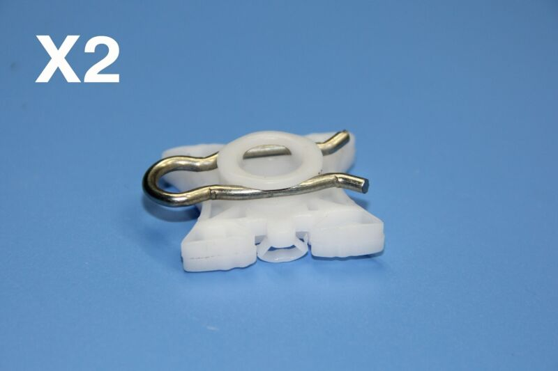 LEXUS WHITE WINDOW REGULATOR SLIDER PIVOT RETAINER CLIPS PACK OF 2