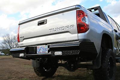 Fab Fours Black Steel Rear Bumpers For 07-13 Toyota Tundra #TT07-T1550-1