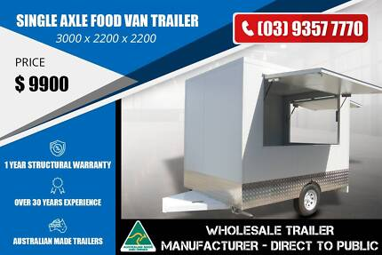 Single Axle Food Van Trailer - 1.4 Tonne Epping Whittlesea Area Preview